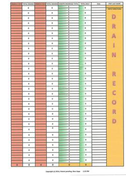 Free Medical Drain Record Excel Spreadsheet